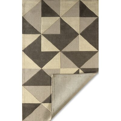 Lueras Hand-Tufted Soot Area Rug Rug Size: Rectangle 6' x 9'