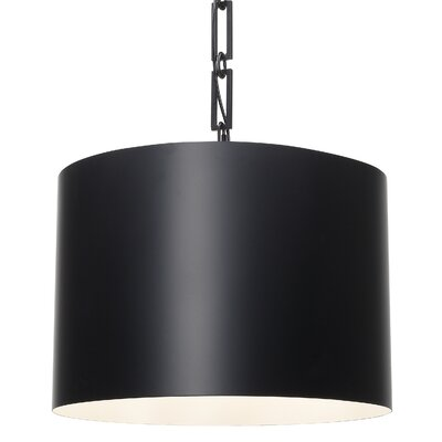 Luff 6-Light Drum Pendant Finish: Matte Black