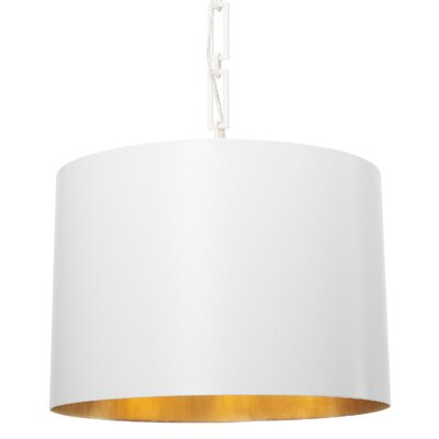 Luff 6-Light Drum Pendant Finish: Matte White