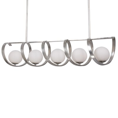Bacher 5-Light Candle-Style Chandelier Finish: Antique Silver