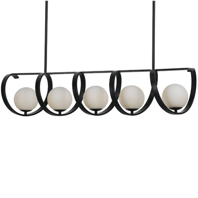 Bacher 5-Light Candle-Style Chandelier Finish: Matte Black