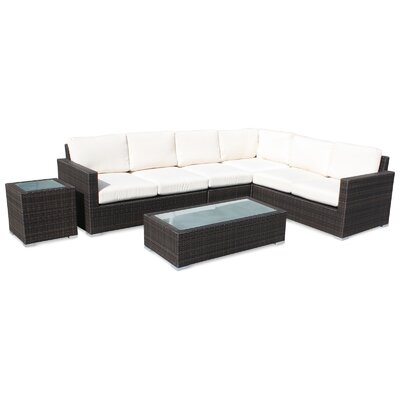 Ronning 6 Piece Sectional Seating Group with Cushions