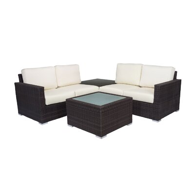 Ronning 4 Piece Sectional Seating Group with Cushions