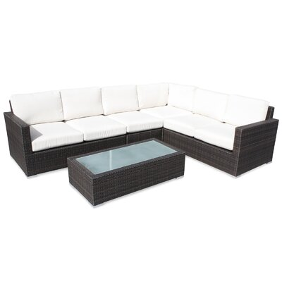 Ronning 5 Piece Sectional Seating Group with Cushions