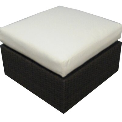 Roque Ottoman with Cushion Fabric: Sunbrella Bay Brown