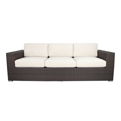 Ropp Sofa with Cushions Color: Off - White