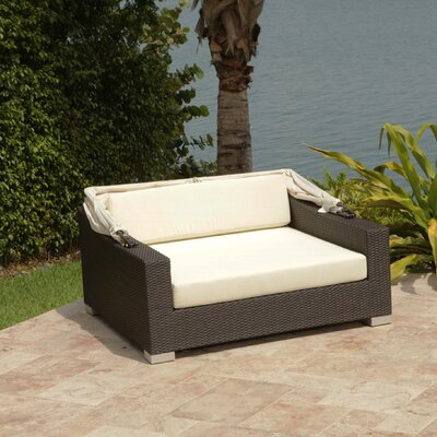 Ropp Day Bed with Cushions Color: Off - White