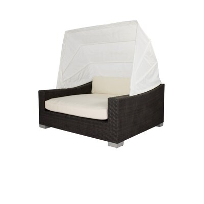 Ropp Day Bed with Cushions Color: Black