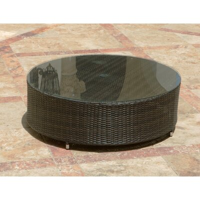 Brayden Studio Rorie Round Coffee Table with Umbrella Hole