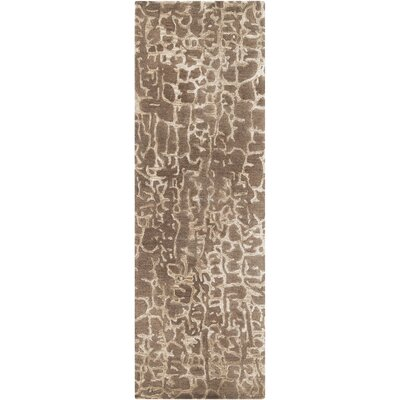 Kymani Hand-Tufted Brown Area Rug Rug Size: Runner 26 x 8