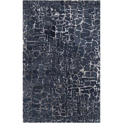 Kymani Hand-Tufted Navy Area Rug Rug Size: Rectangle 5 x 8