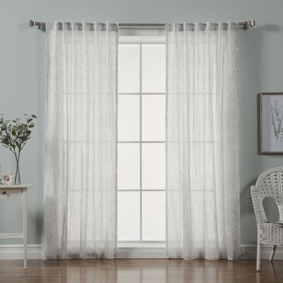 Brayden Studio Rosamond Abstract Sheer Rod pocket Curtain Panels