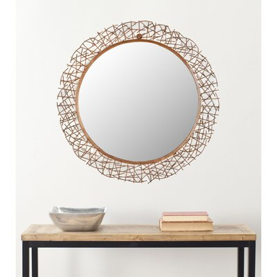 Round Twig Wall Mirror