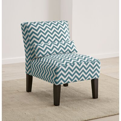 Cloverdale Upholstered Slipper Chair Color: True Turquoise