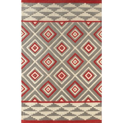 Luevano Hand-Tufted Ivory/Pink Area Rug Rug Size: Rectangle 5 x 8
