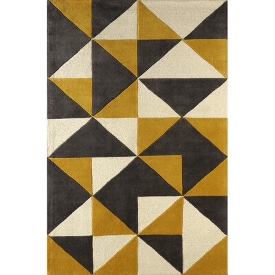 Lueras Horseradish Hand-Tufted Gold/Beige Area Rug Rug Size: 8' x 10'