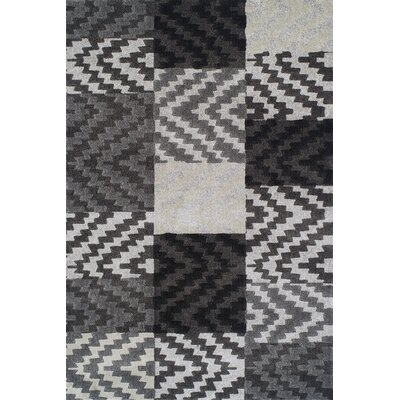 Rossiter Pewter Geometric Area Rug Rug Size: Rectangle 33 x 51