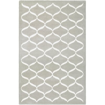 Loper Hand-Tufted Light Gray/Beige Area Rug Rug Size: Runner 23 x 710
