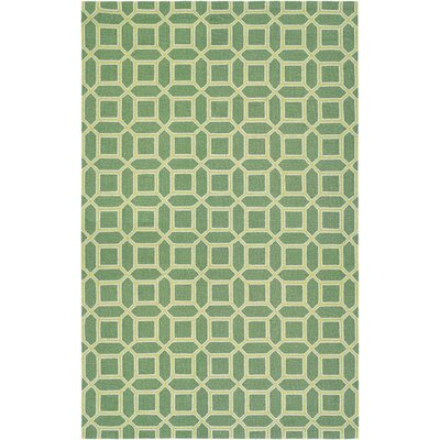 Lopes Hand-Woven Fern/Yellow Area Rug Rug Size: 53 x 76