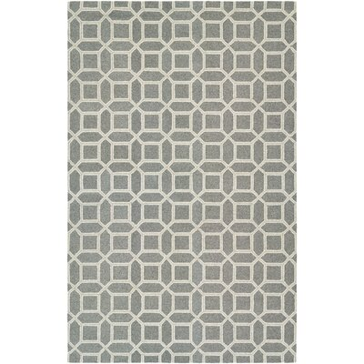 Lopes Hand-Woven Charcoal/Gray Area Rug Rug Size: 35 x 55