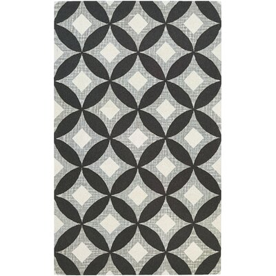 Lopes Hand-Woven Charcoal/Gray Area Rug Rug Size: 95 x 134