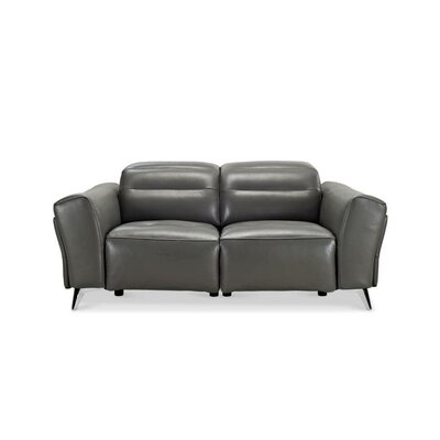 Seiber Leather Reclining Loveseat
