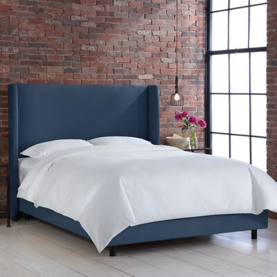 Settles Upholstered Panel Bed Size: King, Color: Klein Midnight