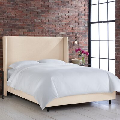 Settles Upholstered Panel Bed Size: Full, Color: Klein Ivory