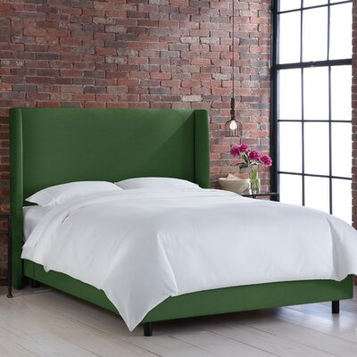 Settles Upholstered Panel Bed Size: Full, Finish: Klein Emerald