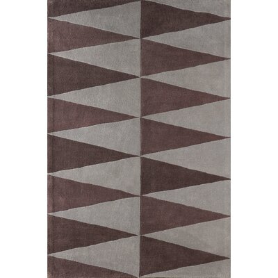 Hisle Hand-Tufted Brown/Gray Area Rug Rug Size: 5 x 8