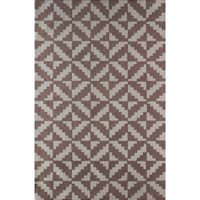 Hisey Hand-Tufted Brown/Gray Area Rug Rug Size: 4 x 6