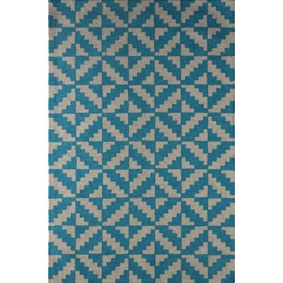 Hisey Hand-Tufted Frost Gray/Lapis Area Rug Rug Size: 8 x 10