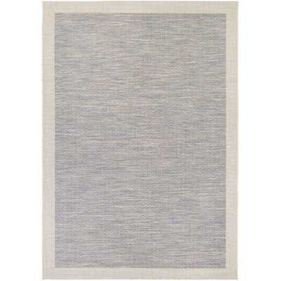 Loranger Blue/Gray Indoor/Outdoor Area Rug Rug Size: 3'7