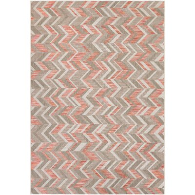 Loranger Red/Gray Indoor/Outdoor Area Rug Rug Size: 37 x 57