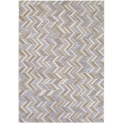 Loranger Blue/Gray Indoor/Outdoor Area Rug Rug Size: Rectangle 67 x 96
