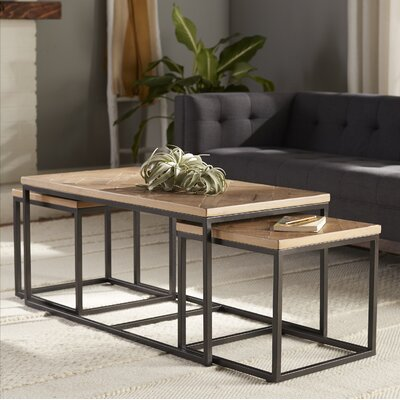 Helton 3 Piece Coffee Table Set