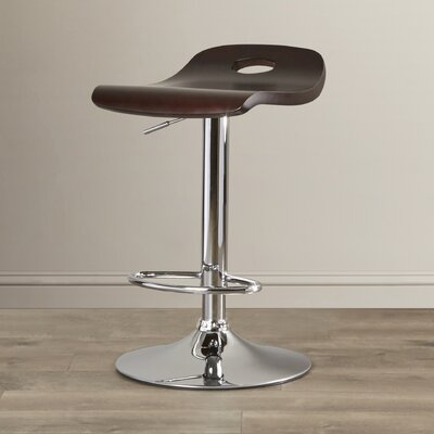 Barron Adjustable Height Swivel Bar Stool Upholstery: Espresso