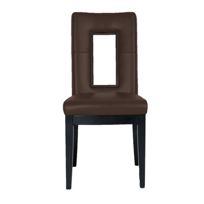 Salerno Parsons Chair (Set of 2) Upholstery: Brown