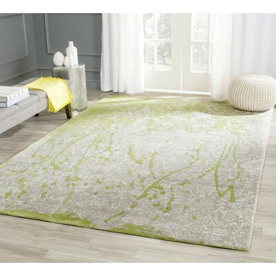 Seo Hand-Tufted Beige/Green Area Rug Rug Size: Rectangle 5 x 8