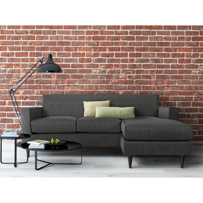 Ancha Reversible Sectional Upholstery Color: Charcoal