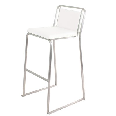 Loftis 29.5 Bar Stool Upholstery: White