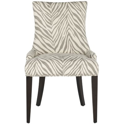 Alpha Centauri Upholstered Side Chair in Linen - Grey Zebra