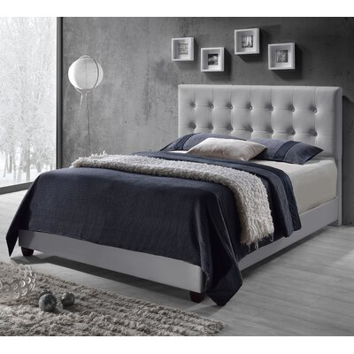 Tilton Upholstered Panel Bed Size: Queen, Color: White