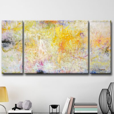 Contentment 3 Piece Painting Print Set on Wrapped Canvas