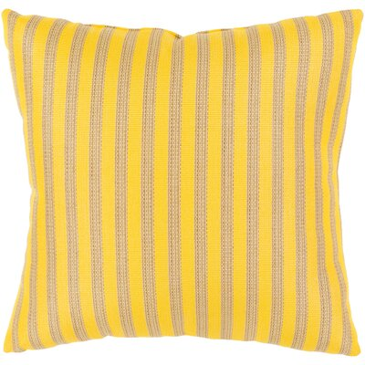 Mosquera Indoor/Outdoor Throw Pillow Size: 20 H x 20 W x 4 D, Color: Sunflower/Beige