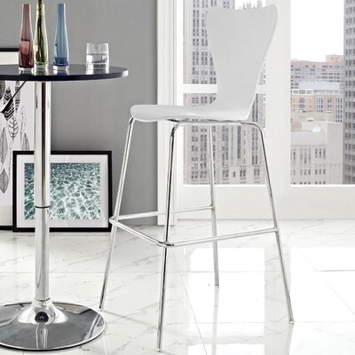 Strout 31 Bar Stool Finish: White