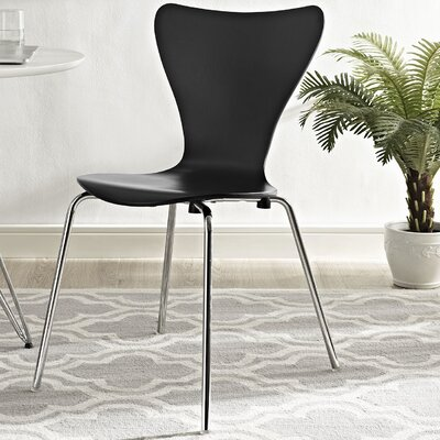 Strout Side Chair Finish: Black