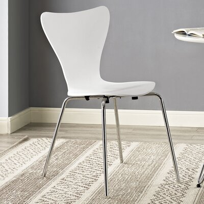 Strout Side Chair Finish: White