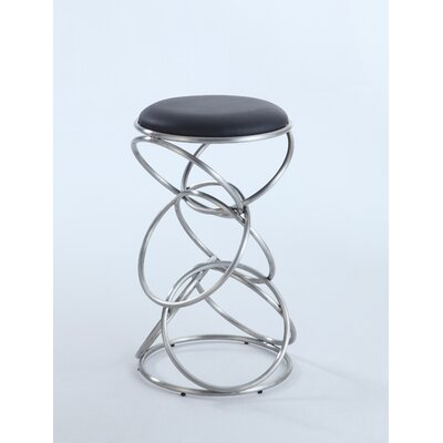 Strouth 29.53 Bar Stool Upholstery: Black