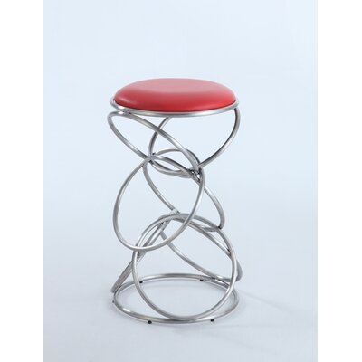 Strouth 29.53 Bar Stool Upholstery: Red